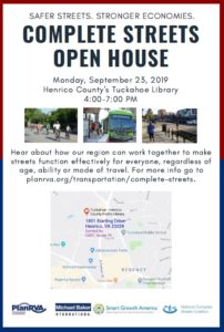 Complete Streets Open House Sept. 23, 2019