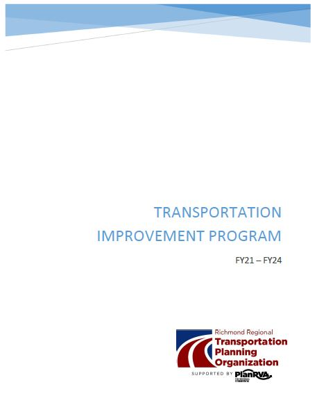 Cover of the FY21-FY24 TIP