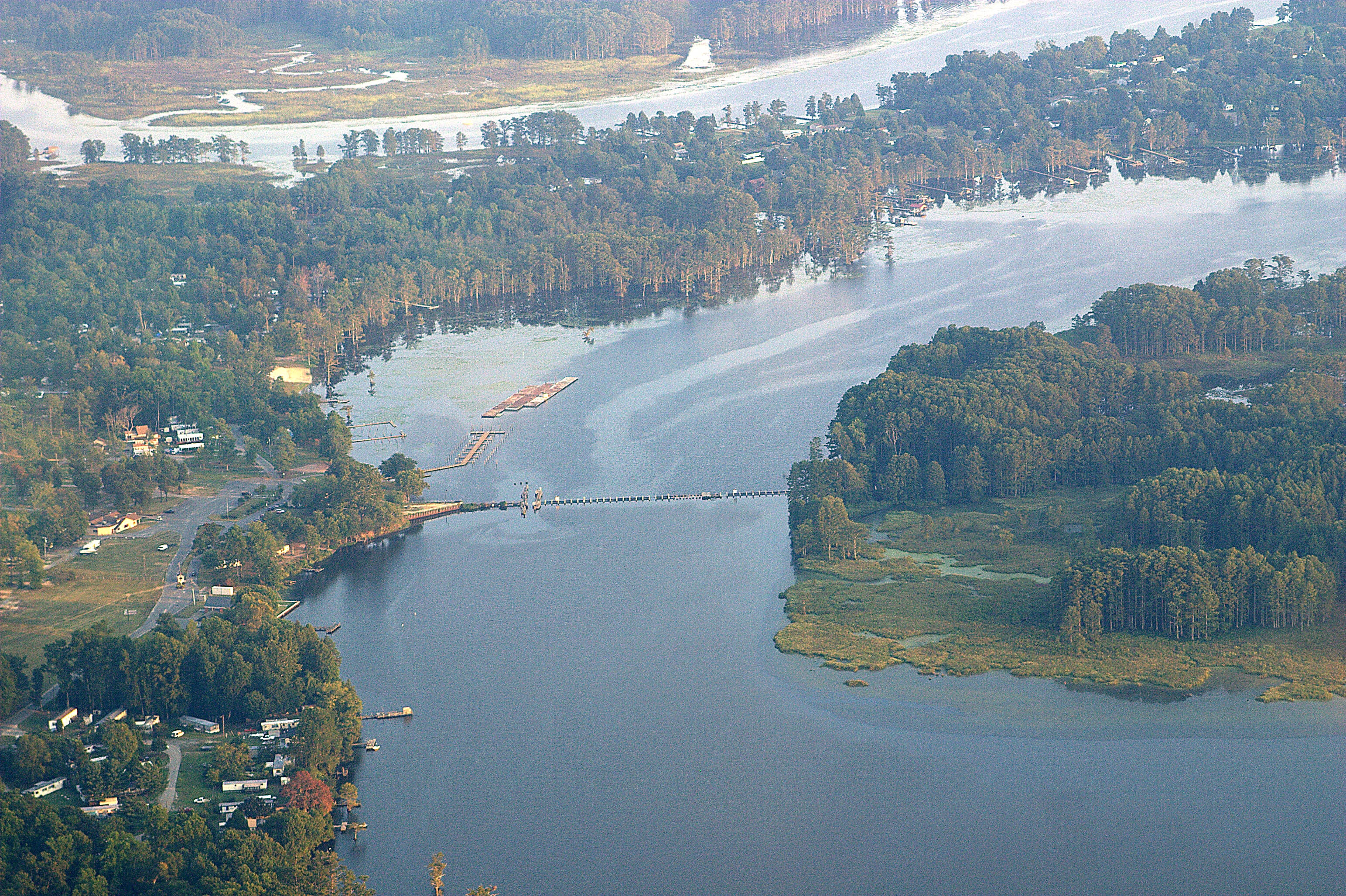 Aerial view of Rockahock on the Chickahominy River (John Bragg)